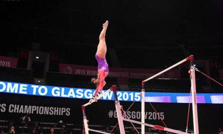 Brenna Dowell Podium Training, 2015 Worlds