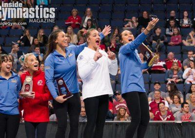 Peng-Peng Lee, Maggie Nichols, Kyla Ross, MyKayla Skinner, Katelyn Ohashi, 2018 NCAA Women's Gymnastics Championships
