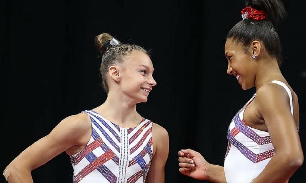 2018 U.S. Championships – Junior Women Podium Training
